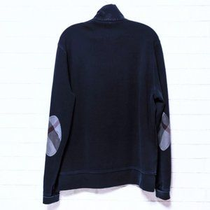 Burberry Brit Blue Elbow Patch Pullover Sweater L